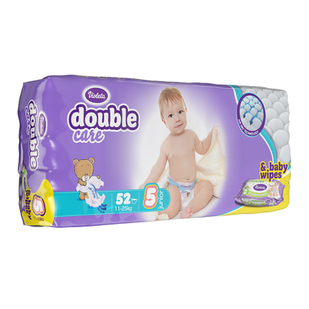 Picture of Violeta® Double Care Aircare 5 (11-25 kg) 52 Pcs