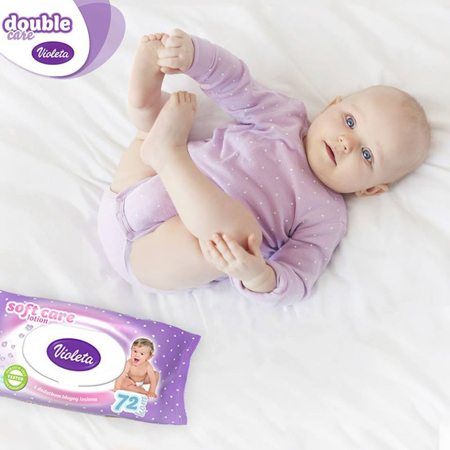Violeta® Baby Wipes With Almond Milk 56/1