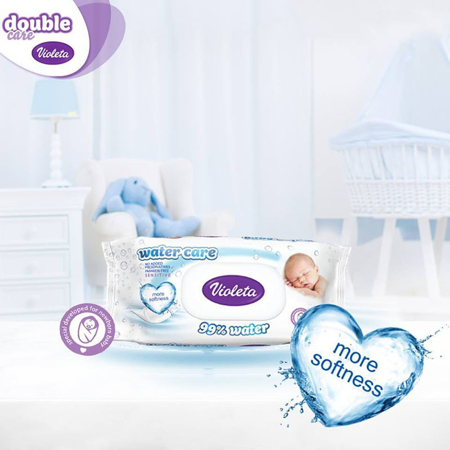 Violeta® Baby Wipes Water Care 3 x 56/1