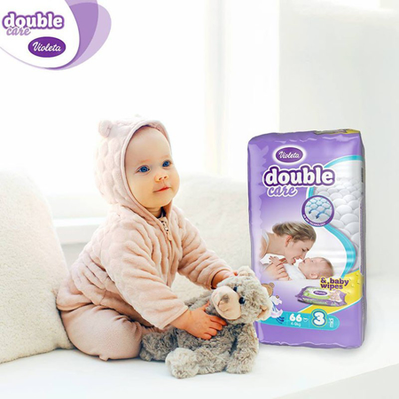 Violeta® Double Care Aircare 4+ (9-20 kg) 56 Pcs