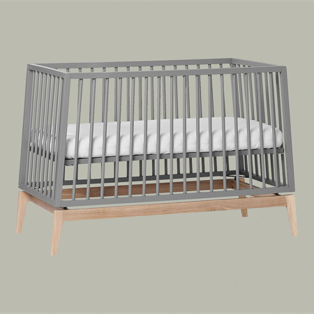 Leander® Luna™ Baby Bed wo. mattress 120x60 cm Grey/Oak