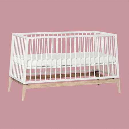 Picture of Leander® Luna™ Baby Bed wo. mattress 140x70 cm White/Oak
