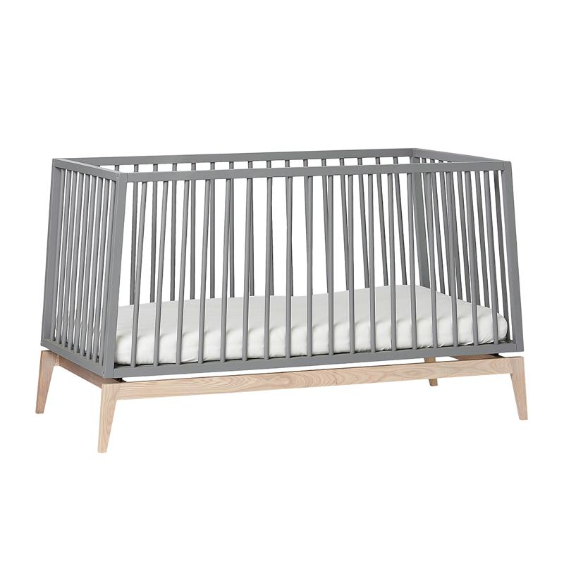 Picture of Leander® Luna™ Baby Bed wo. mattress 140x70 cm Grey/Oak