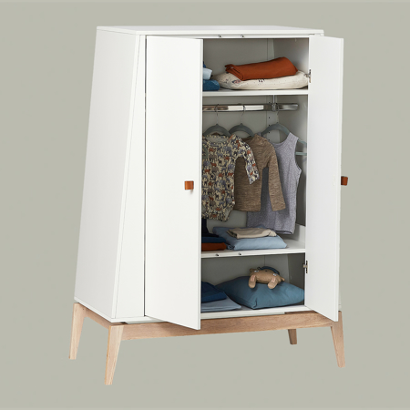 Picture of Leander® Luna™ Wardrobe Small White/Oak