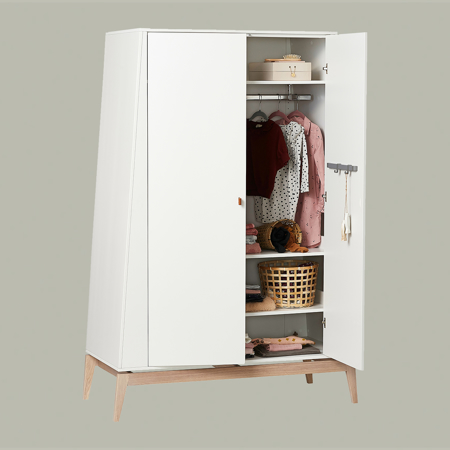 Picture of Leander® Luna™ Wardrobe Large White/Oak