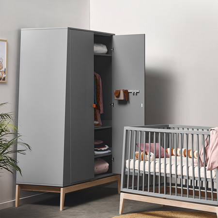 Picture of Leander® Luna™ Wardrobe Large Grey/Oak