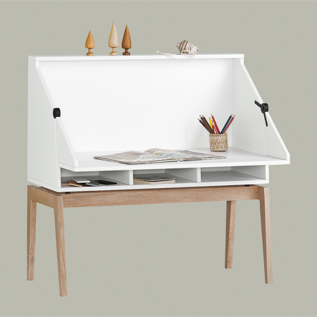 Picture of Leander® Luna™ Desk White/Oak