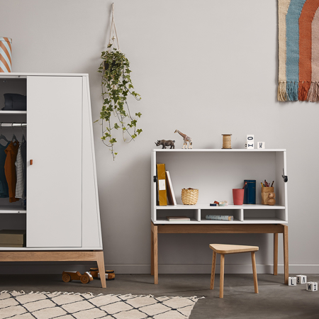 Picture of Leander® Luna™ Desk White/Oak