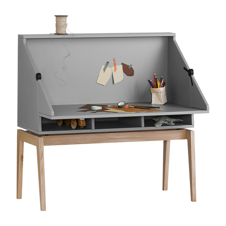 Picture of Leander® Luna™ Desk Grey/Oak