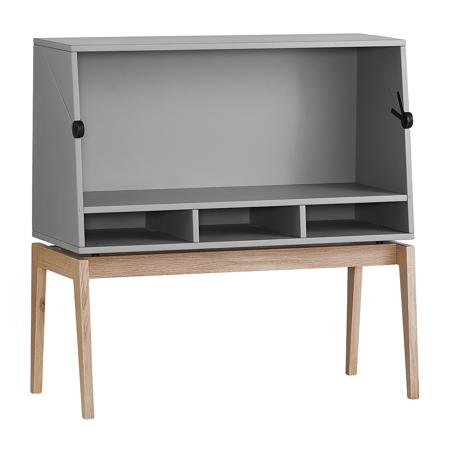 Picture of Leander® Luna™ Desk Grey/Oak