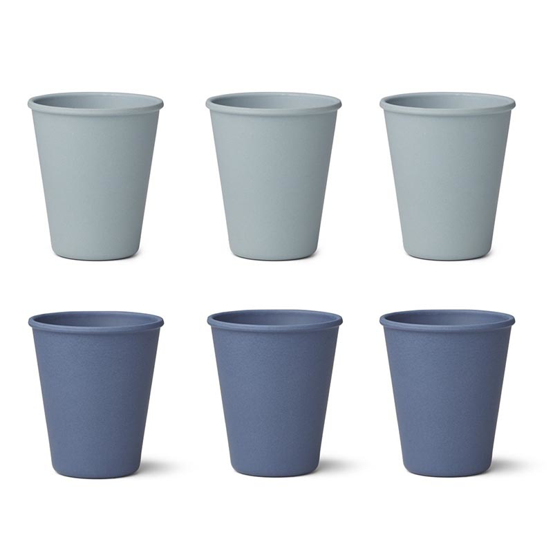 Picture of Liewood® Gertrud Bamboo Cups 6 Pack - Blue Mix