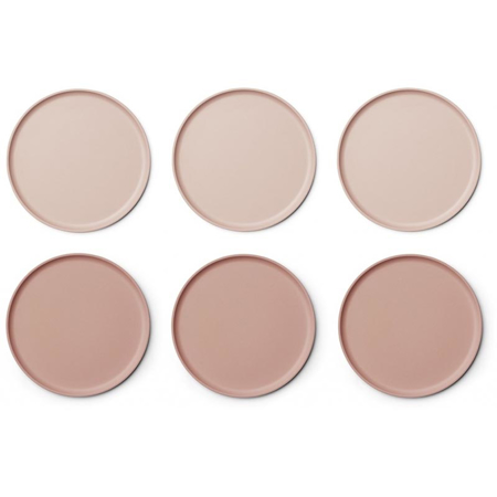 Picture of Liewood® Patrick Bamboo Plates 6 Pack - Coral blush mix
