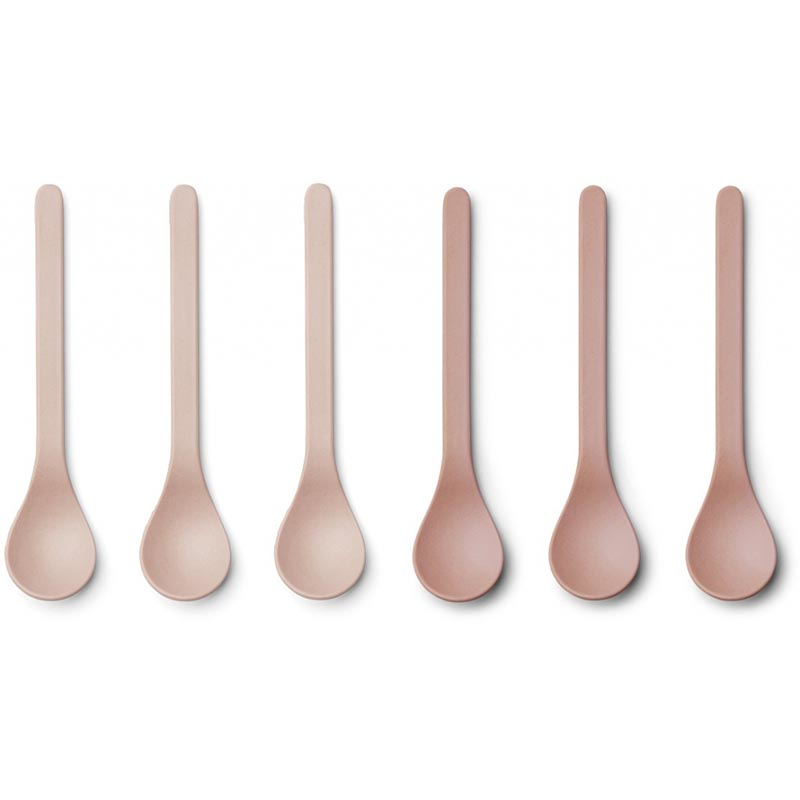 Picture of Liewood® Etsu Bamboo Spoon 6 Pack - Coral blush mix