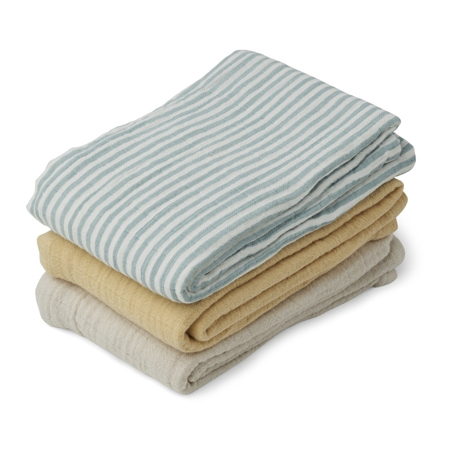 Picture of Liewood® Line Muslin Cloth 3 Pack -  Sea blue stripe mix