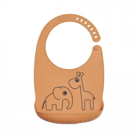 Picture of Done by Deer® Silicone bib Deer Friends Mustard