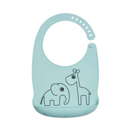 Picture of Done by Deer® Silicone bib Deer Friends Blue