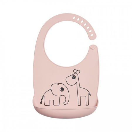 Picture of Done by Deer® Silicone bib Deer Friends Powder