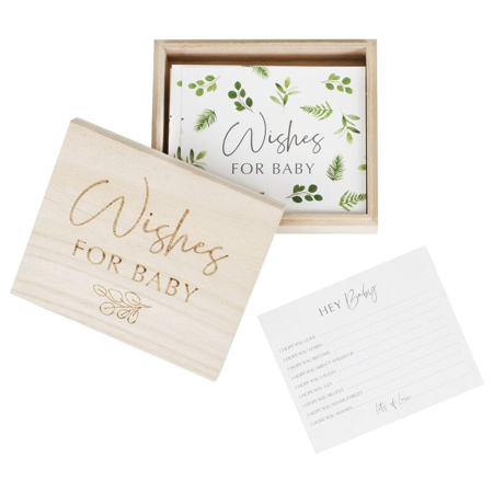 Picture of Ginger Ray® Botanical Baby Shower Advice Cards And Keepsake Box