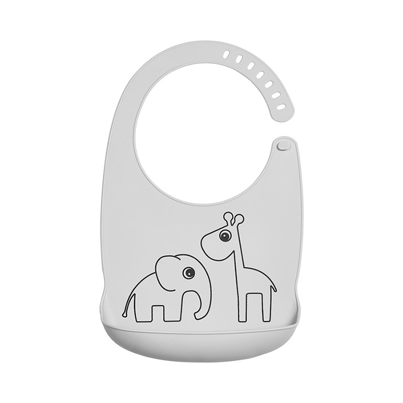 Picture of Done by Deer® Silicone bib Deer Friends Grey