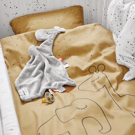 Picture of Done by Deer® Dreamy Dots Bedlinen Mustard (100x140)