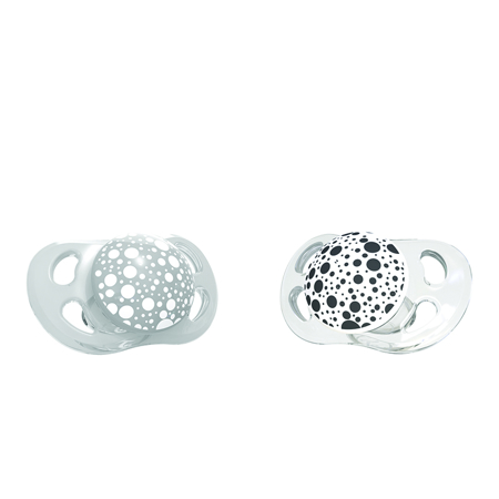 Picture of Twistshake®  2x Pacifier Grey&White (0+/6+)  - 0-6 M