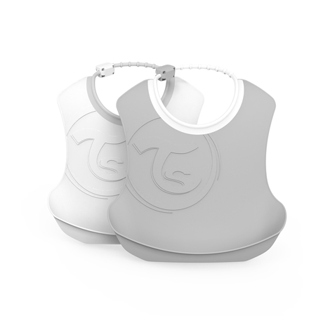 Picture of Twistshake 2x Bib Grey&White (4+M)