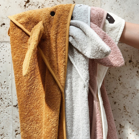 Liewood® Hooded Baby Towel - Fox Mustard