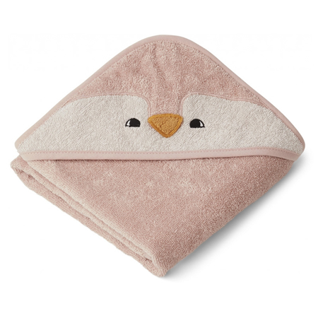 Picture of Liewood® Hooded Baby Towel - Penguin Rose