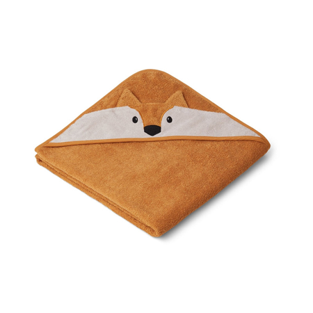 Picture of Liewood® Hooded Towel -  Fox Mustard 100x100