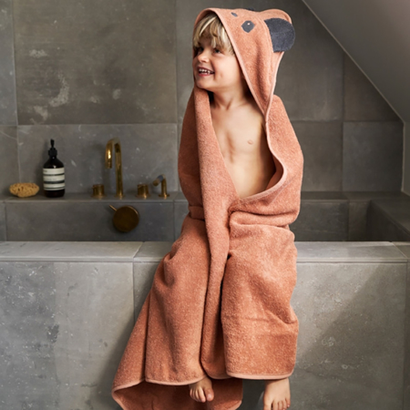 Liewood® Hooded Towel -  Penguin Stone Grey 100x100