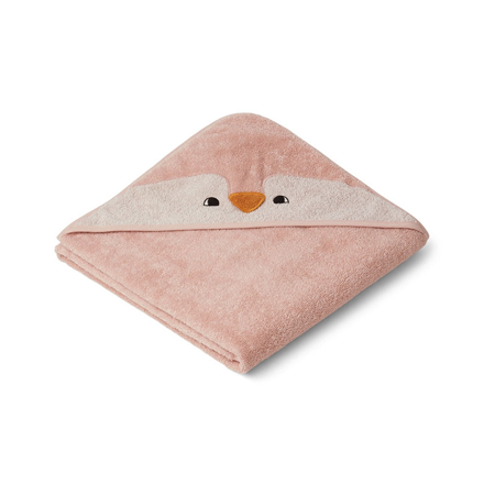 Picture of Liewood® Hooded Towel -  Penguin Rose 100x100