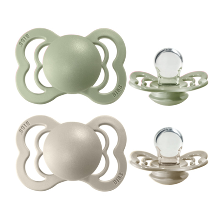 Picture of Bibs® Baby Pacifier Supreme Silicone Sage & Sand Silicone 2 (6-36m)