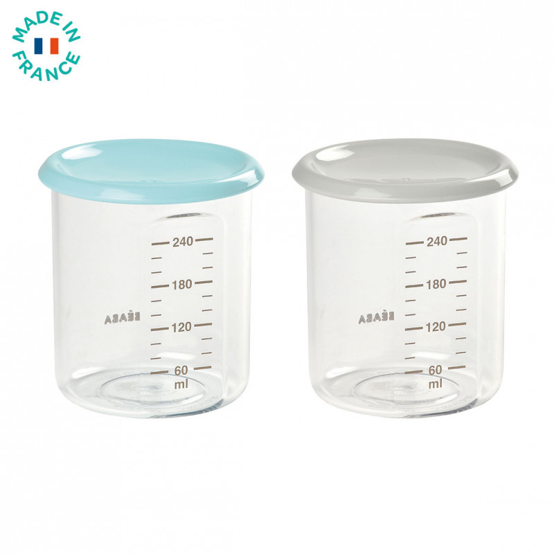Picture of Beaba® Set of 2 Maxi Portion Light Blue/Grey