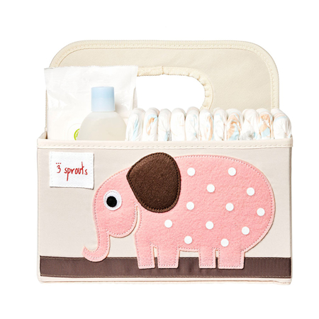 3Sprouts® Diaper Caddy Elephant