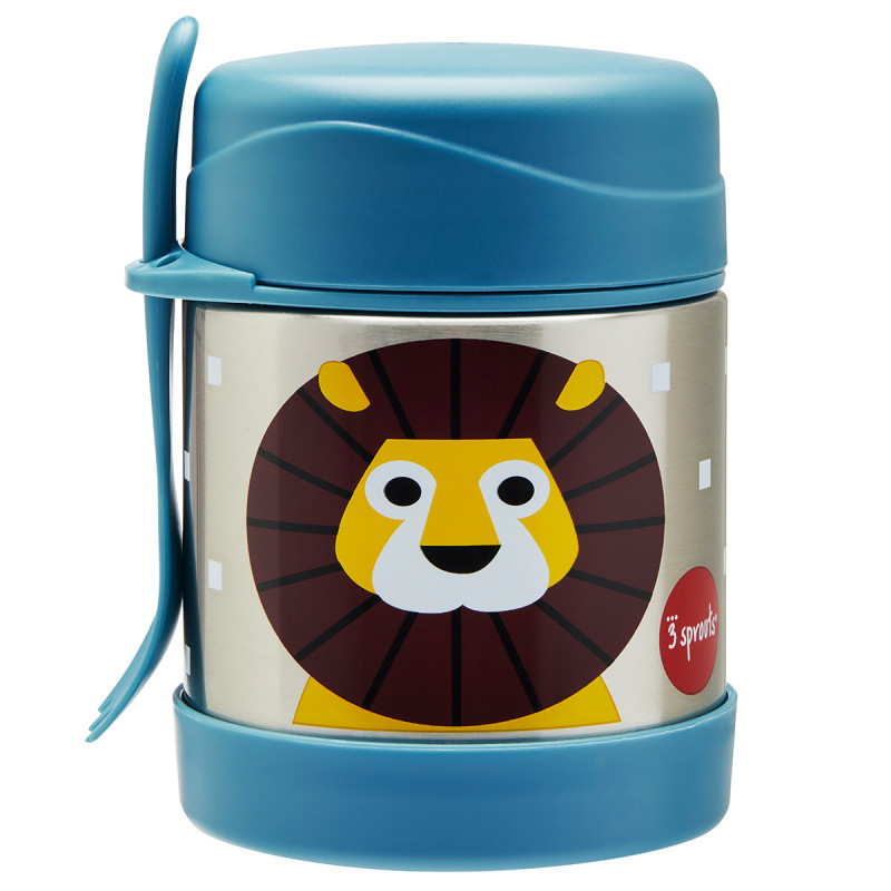 Picture of 3Sprouts® Stainless Steel Food Jar Lion
