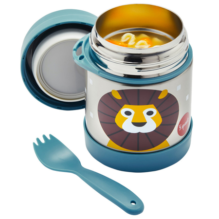 3Sprouts® Stainless Steel Food Jar Lion