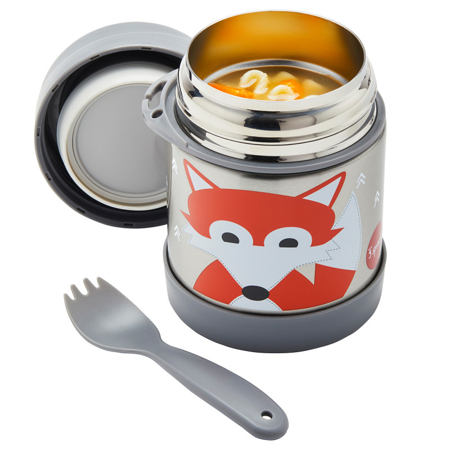 3Sprouts® Stainless Steel Food Jar Fox