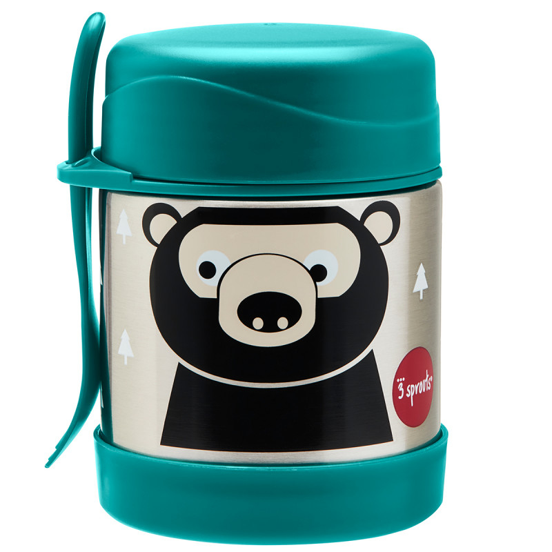 Picture of 3Sprouts® Stainless Steel Food Jar Bear