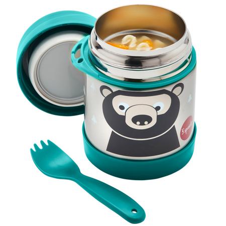 3Sprouts® Stainless Steel Food Jar Bear