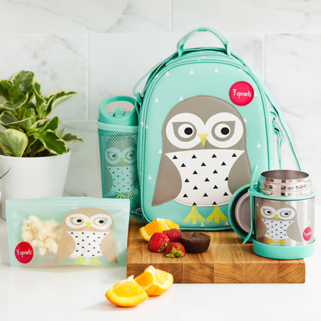 Picture of 3Sprouts® Stainless Steel Food Jar Owl