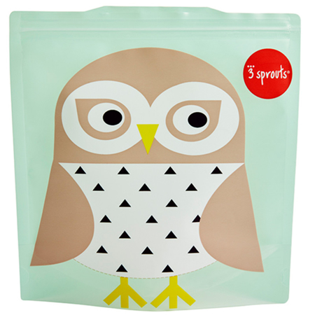 Picture of 3Sprouts® Sandwich Bag (2 pack) Owl