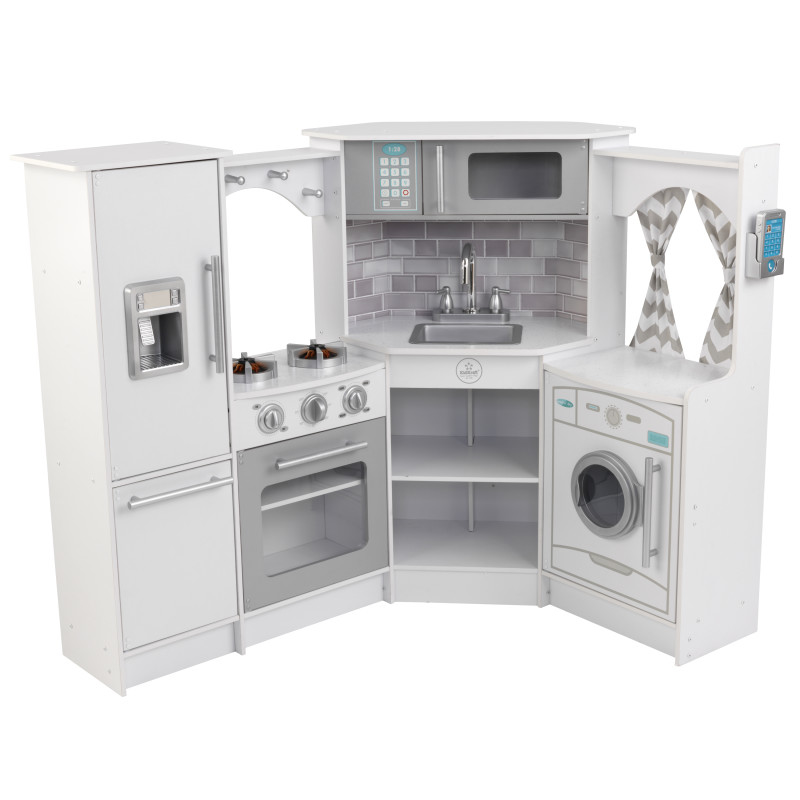 Picture of KidKratft® Ultimate Corner Play Kitchen with Lights & Sounds - White