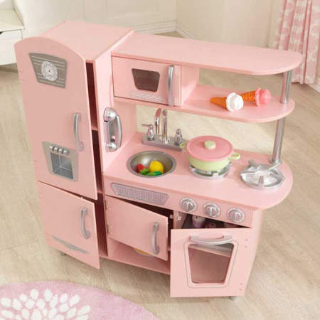 Picture of KidKratft® Vintage Play Kitchen - Pink/Silver