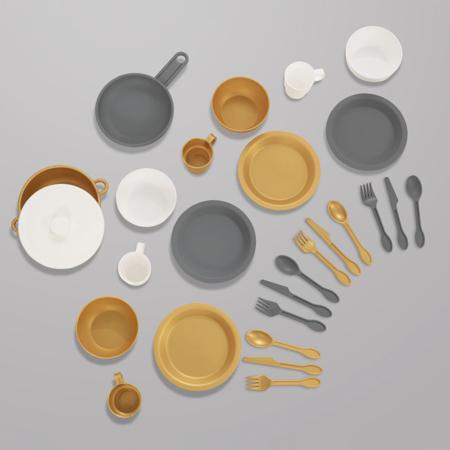 KidKratft® Modern Metallics™ 27-Piece Cookware Set