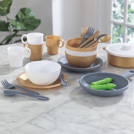 Picture of KidKratft® Modern Metallics™ 27-Piece Cookware Set