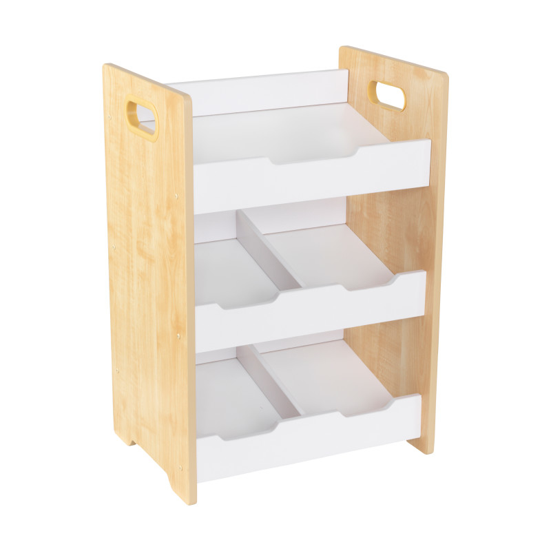 Picture of KidKratft® Angled Bin Unit - Natural with White Shelves