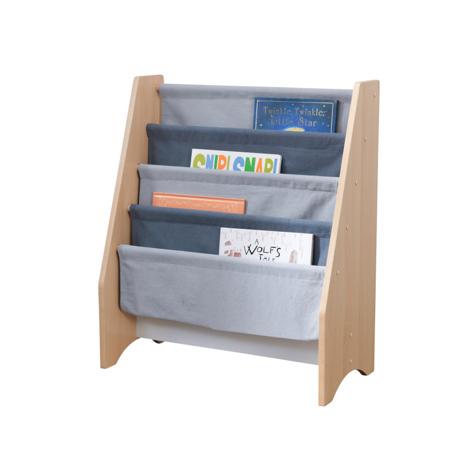 KidKratft® Sling Bookshelf - Gray & Natural
