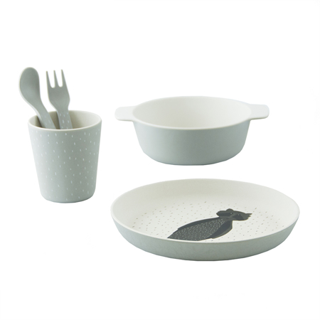 Trixie Baby® Tableware gift set - Mr. Raccoon