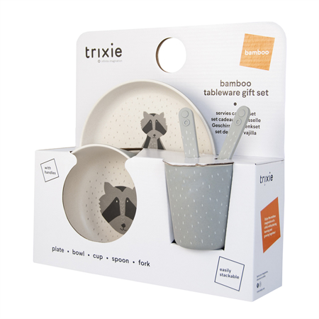 Picture of Trixie Baby® Tableware gift set - Mr. Raccoon