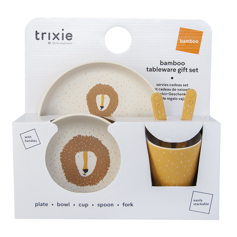 Picture of Trixie Baby® Tableware gift set - Mr. Lion